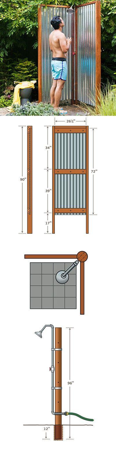 Alternative Gardning: Outdoor Shower Plans