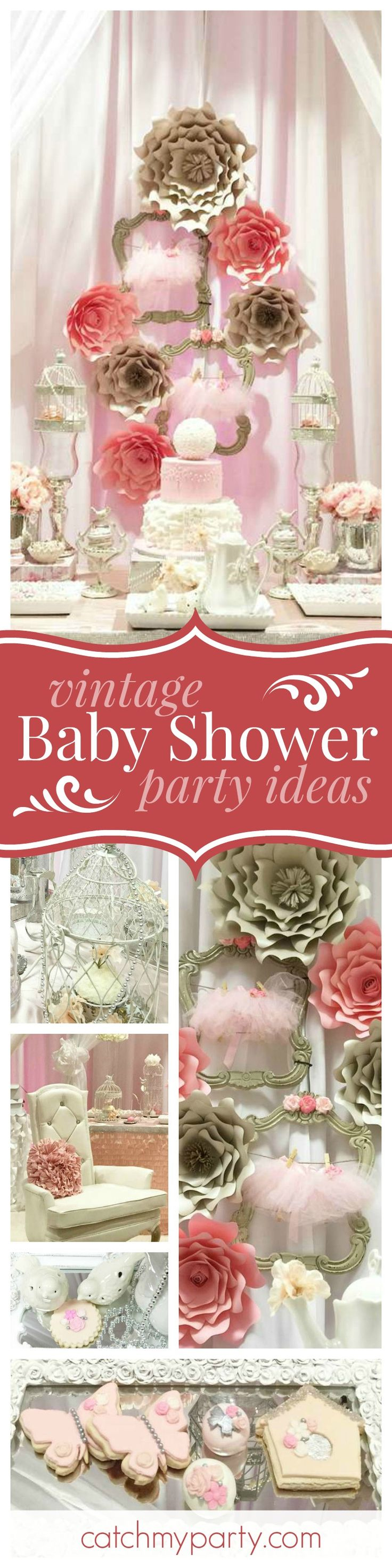 23 best images about Sweet Vintage Baby Shower on Pinterest