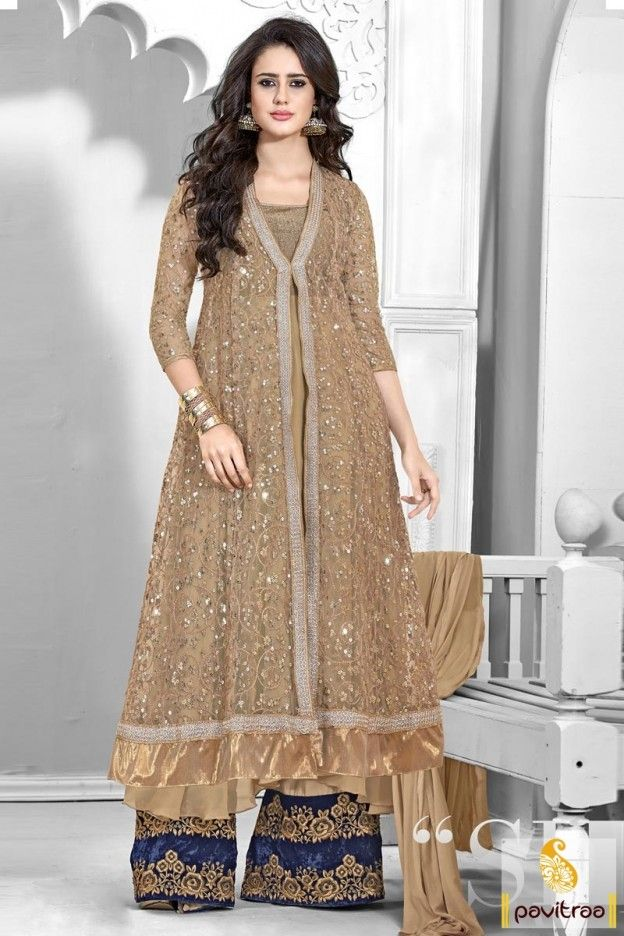 Insert a silky grace to your delightful style with blue beige georgette wedding wear palazzo dresses online shopping with discount sale in Surat. This attractive palazzo style salwar kameez best for engagement and new year party. #partywearsalwarsuit, #partywaearsalwarkameez, #palazzopartywearsalwarsuit, #pakistanisalwarsuit, #discountoffer, #embroiderysalwarsuit, #festivalsalwarsuit More Product: Any Query: Call Us:+91-7698234040 E-mail: info@pavitraa.in