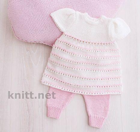 Платья для девочек. Розовый цвет очень нежно смотрится в сочетании сбелым. Красиво декорированное платье с ажурными полосками для торжественных поводов.
