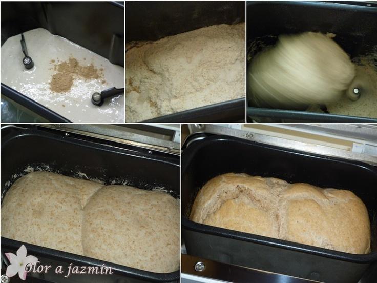 ! Olor a jazmín !: Pan de molino en panificadora (100% masa madre)