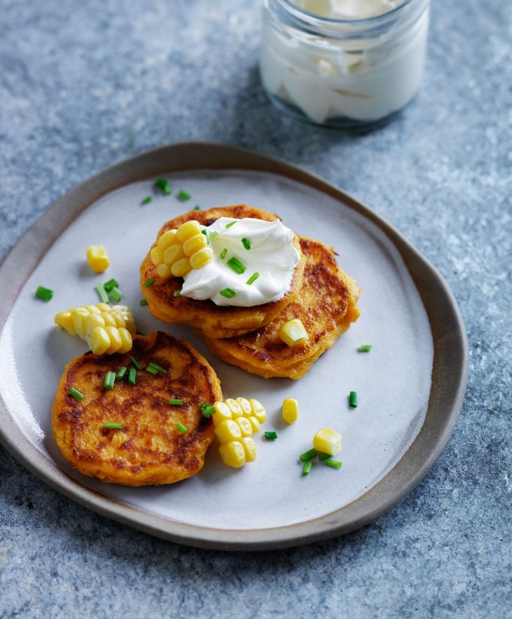 Recipes | Corn Sweet Potato Pikelets | Louise Fulton Keats