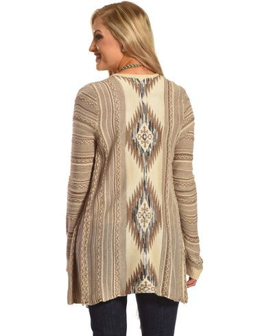 Shyanne Women's Aztec Fringe Trim Sweater - Country Outfitter