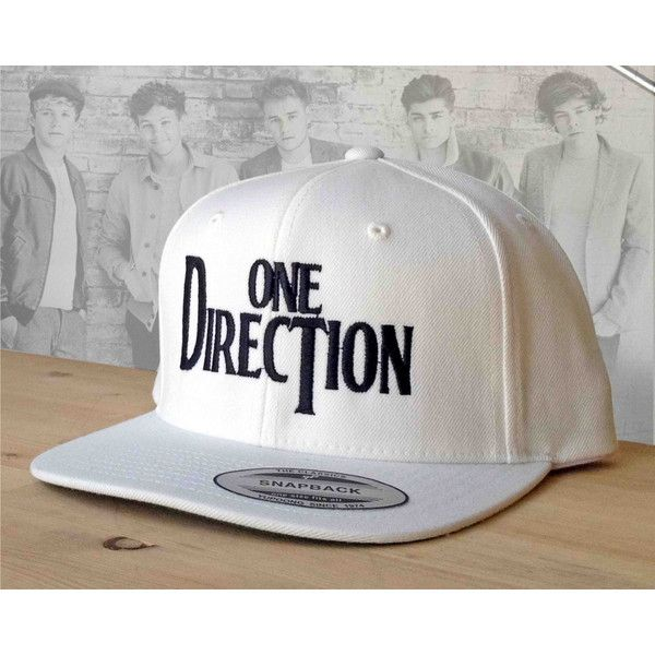 1D logo Snapback embroidered hat from One Direction custom hat. (165 MAD) ❤ liked on Polyvore featuring accessories, hats, one direction, caps, hair, snap back caps, logo caps, caps hats, embroidery caps and embroidered hats