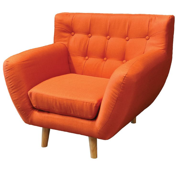 Armchair Rihanna fabric orange Ε978,13