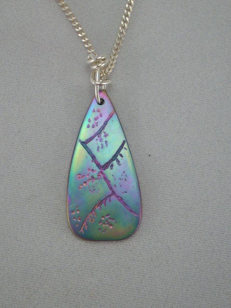 "Titanium Pendant ""Pastel Teardrop"" Chain Sold Separately ONE OFF PIECE www.carellajewellers.com"
