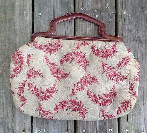 Vintage 40's Knitting Bag