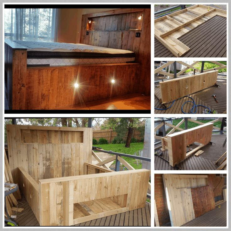 King size pallet bed mostly made from repurposed pallets but then had to buy framing material to frame it with. …