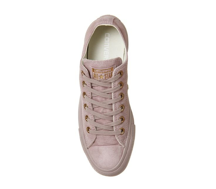 Buy Burnished Lilac Rose Gold Exclusive Converse All Star Low Leather from OFFICE.co.uk.