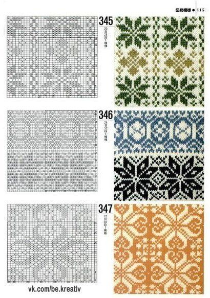 92 best Knit Charts images on Pinterest | DIY, Balcony and Crafts