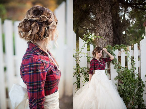 Love this hair! (And the flannel too!) Gown Series : Southern Belle » Ciara Richardson Photography