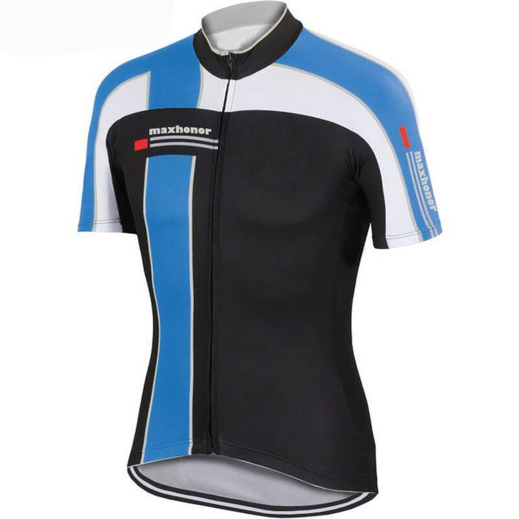 Maxhonor Team Pro Cycling Jersey Blue White   Freestylecycling.com