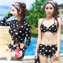 Manga longa Mulheres Swimwear Retro Maiô Fatos de Banho Beach Wear Swim Wear Meninas Sexy Maiô Beachwear Maillot de Manga Longa(China (Mainland))