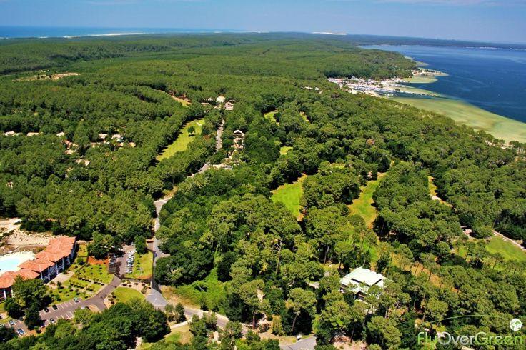 Golf de Biscarrosse, Landes, Nouvelle-Aquitaine, France. Vidéo aérienne sur FlyOverGreen / Aerial video on FlyOverGreen