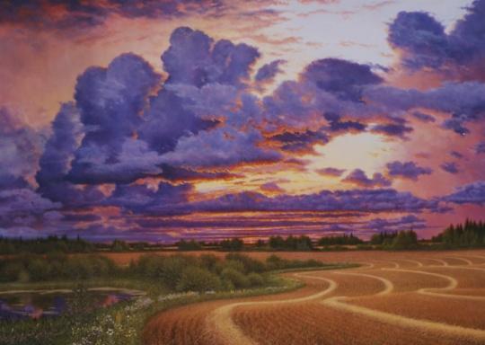 The Magic Hour, just before dusk (Navillus Gallery, Toronto)