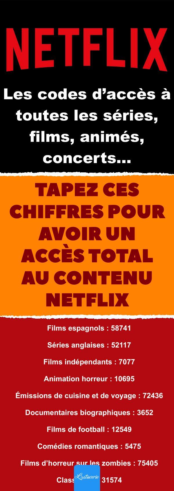 Netflix voici les codes à taper pour accéder aux films