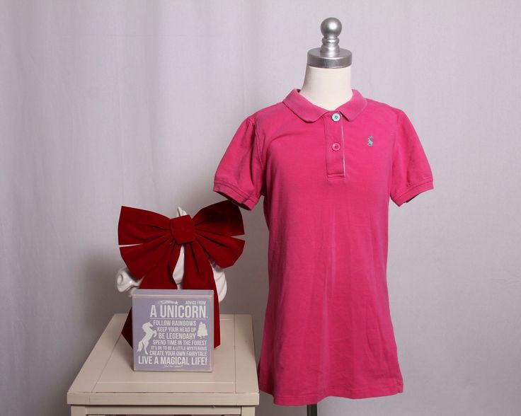 Joules Kid's 11/12 Year Old Polo Shirt, Pink