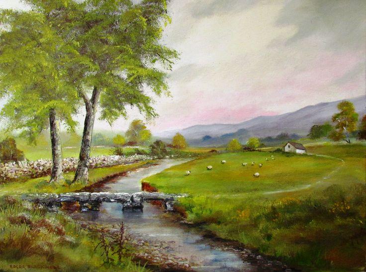 """Footpath across the Meadow"" Oil on canvas board. 16"" x 12"""