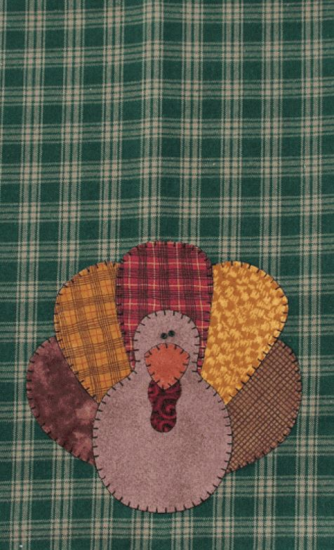 P06 Turkey Patternlet- fusible applique pattern for fall