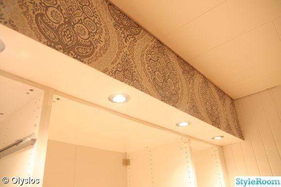 garderob,spotlights,downlights,eco tapet,huntonit
