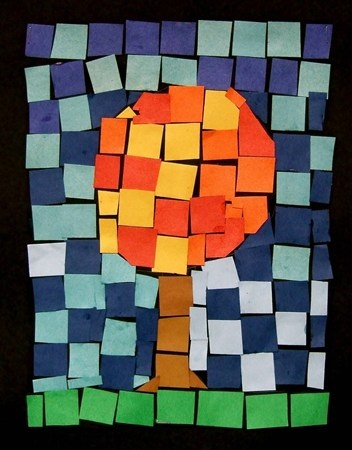 """From exhibit """"Mosaic Fall Tree -1"""""""