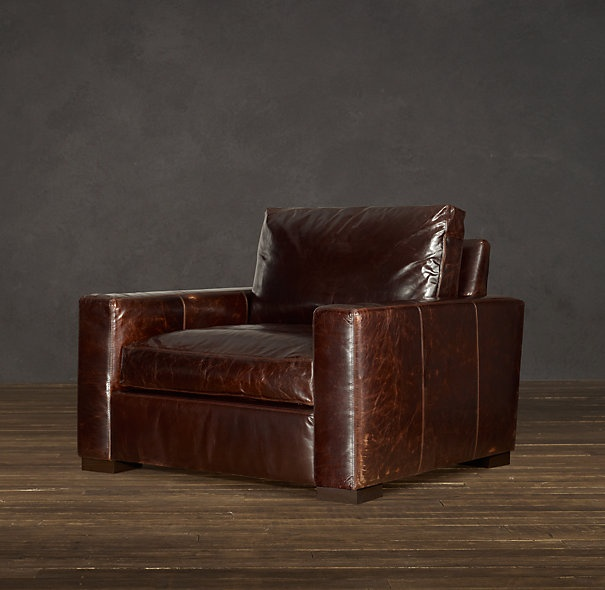 Rh Maxwell Leather Chair Chairs Pinterest Porch