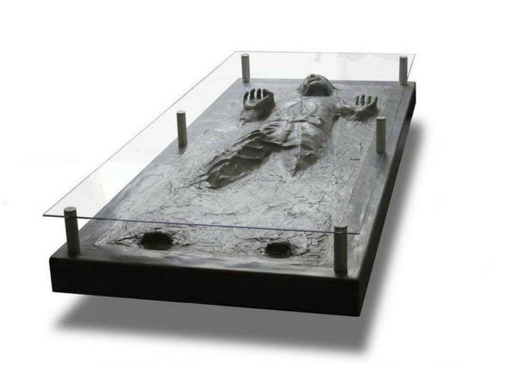 Han Solo in Carbonite Coffee Table - yours for $2000:)
