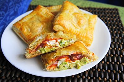 avocado, cream cheese, and salsa pockets: Salsa Pockets, Recipe, Food, Navy Wife, Avocado Cream, Cream Cheeses