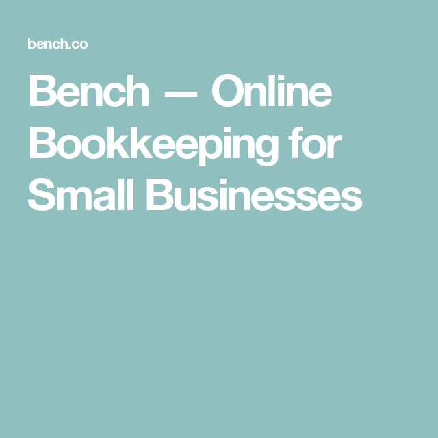 Bench — Online Bookkeeping for Small Businesses