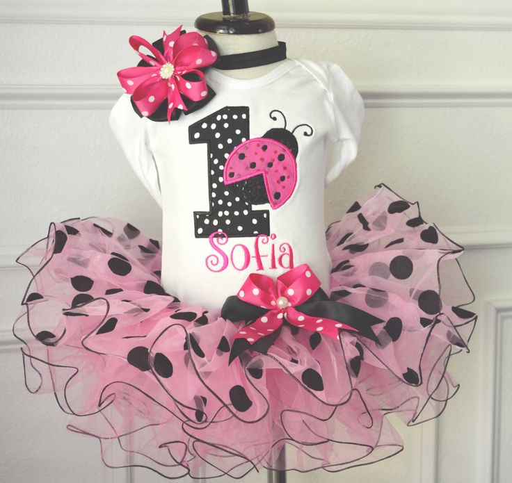 First Ladybug Birthday Girl Outfit- First Pink Ladybug Tutu Outfit-Girl First birthday Pink Ladybug Tutu-1st 2nd Pink Ladybug birthday girl