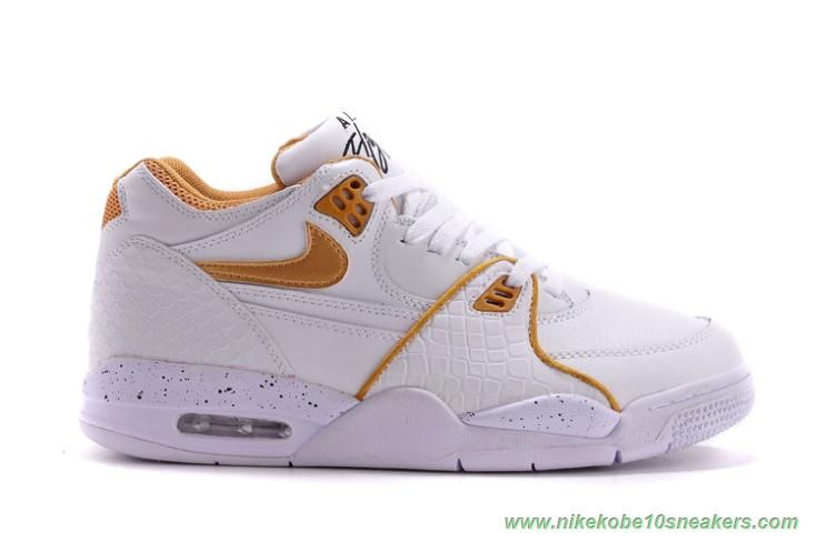 Leather 306252-115 White/Gold Nike Air Flight 89 For Cheap