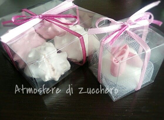 Meringue favour box and dance shoes