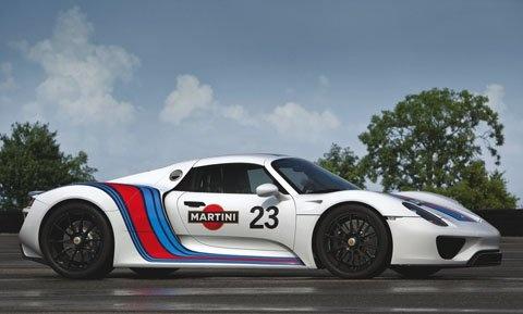 Raise a glass (of Martini) to the Porsche 918 Spyder