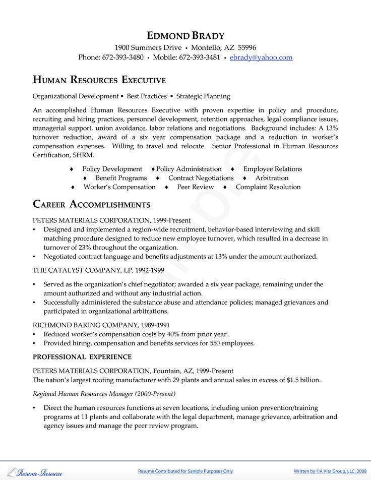 Hr executive resume how to draft a hr executive resume