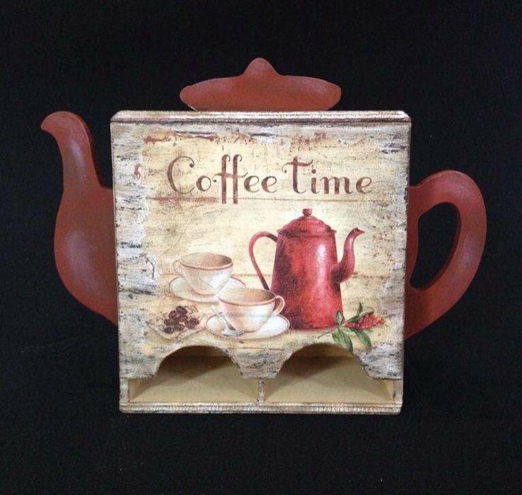 Caja vintage para guardar las bolsitas de té