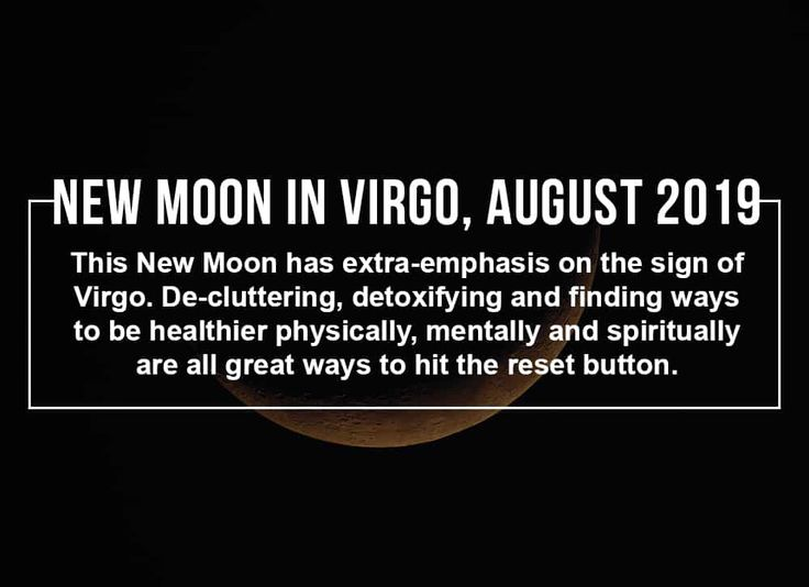 A packed New Moon in Virgo is upon us on 30 August 2019! This New Moon brings a …
