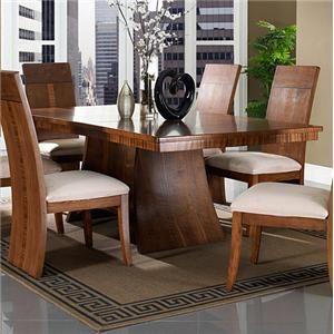 Milan Contemporary Rectangular Pedestal Dining Table By Somerton At Dunk Bright Furniture