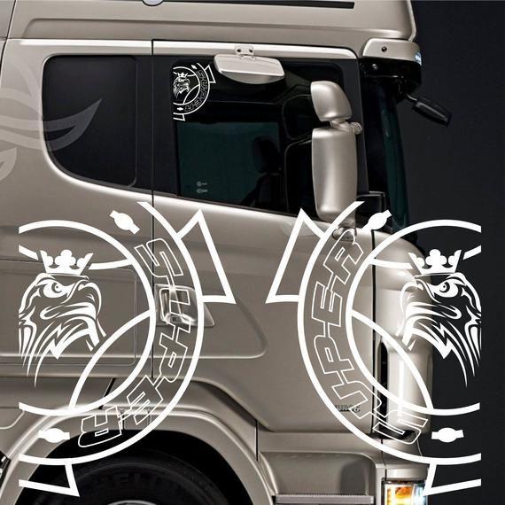 Volvo top corner window decals