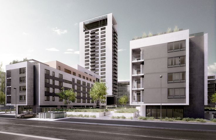 Private project   Rozadol  Exterior Visualization of Urban district