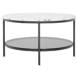 Ascot marmor bord runt Ø 85 :: Soffbord / sidobord, Soffbord / sidobord > Marmor soffbord