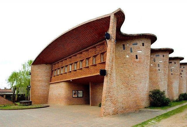The Church of Christ Obrero designed by  Eladio Dieste  in 1952