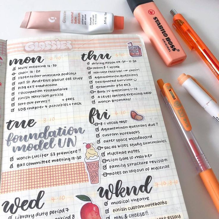Follow the best page  @peachystudy -  12:00 a cute orange spread from my bujo a few weeks ago! feat zebra sarasa pens from @stationerystoreco  @glossier coconut balm dot com literally my fav stuff at the moment  you can use my BFF link (http://bff.glossier.com/gIGn_) for 10% off your Glossier order (or follow the link in @glowstudy bio)  #glossier #bujo #bulletjournal