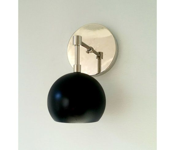 Painted loa sconce in matte hallway black and brass or for Flat black wall paint