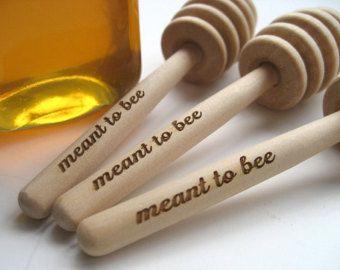 HONEY Dipper Wedding Favor - Meant To Bee Engraved Honey Dipper - Set of 85