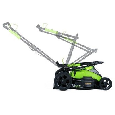 19 G-Max 40V Cordless Lawn Mower 2500502 - GreenWorks, Electric Lime