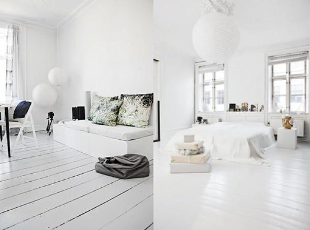 witte planken vloer