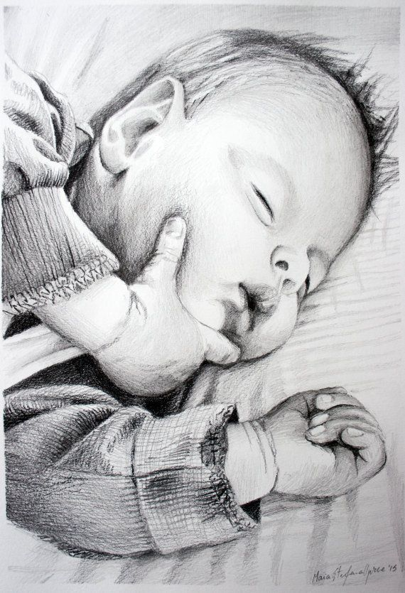 Order your Portrait Today ! Custom BABY Portrait  PENCIL drawing by BabyPortraitArt on Etsy #Etsy #portrait #Christmas #personalised #gift