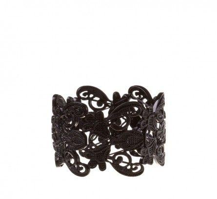 Black Filigree Stretch Bracelet | Bracelets Online | Lovisa
