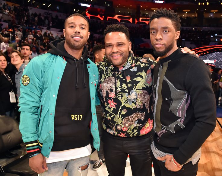 Michael B Jordan, Anthony Anderson and Chadwick Boseman | See Gabrielle Union, Diddy, Michael B. Jordan, Letitia Wright Cardi B, Danielle Brooks and other celebrity pics of the week.