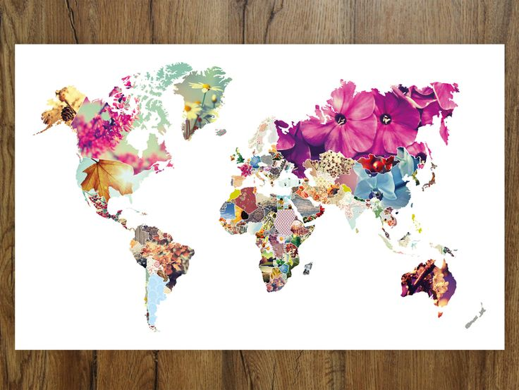 Ber ideen zu weltkarte tattoo auf pinterest - Weltkarte basteln ...
